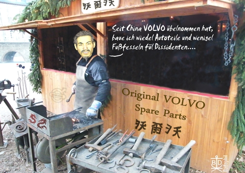 Cartoon: VOLVO sold to China (medium) by Dadaphil tagged volvo,china,dissident