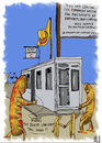 Cartoon: Currywurst (small) by Dadaphil tagged currywurst,berlin,saussage,checkpoint,charlie,roster