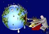 Cartoon: Who owns the earth? (small) by Dadaphil tagged earth,owner,erde,eigner,exploit,ausbeuten