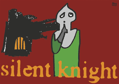 Cartoon: Silent Knight (medium) by nik tagged ritter,ruhig,burg,weihnachten