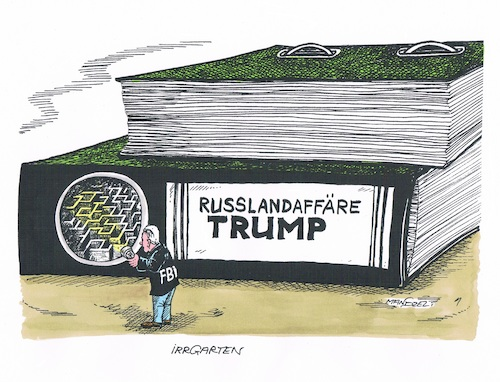Cartoon: Ermittlungen gegen Trump (medium) by mandzel tagged trump,kritikhagel,usa,diplomatieunfähigkeit,mandzel,karikatur,is,geheimnisverrat,russland,affären,staatslähmung,trump,kritikhagel,usa,diplomatieunfähigkeit,mandzel,karikatur,is,geheimnisverrat,russland,affären,staatslähmung