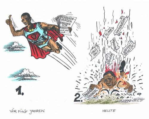 Obama am boden by mandzel politics cartoon toonpool for Boden cartoon