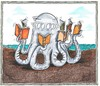 Cartoon: Buchmesse (small) by mandzel tagged buchmesse,polyp,bücher