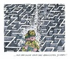 Cartoon: Israelische Suchakion (small) by mandzel tagged israel,jugendliche,vermisstensuche,soldaten,labyrinth