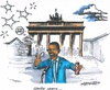 Cartoon: Obama in Berlin (small) by mandzel tagged berlin,obama,seifenblasen