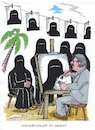 Cartoon: Porträtmaler (small) by mandzel tagged maler,burkha,orient
