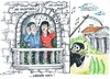 Cartoon: Shakespeare 400 (small) by mandzel tagged shakespeare,todestag,400,jahre