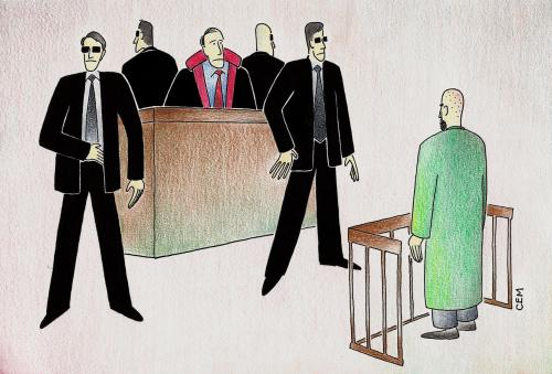 Cartoon: court (medium) by cemkoc tagged supreme,tribunal,judgement,court,judicial,judge,justice,ko,cem,karikatürleri,hukuk,cartoons,law,lex,jurisdiction,legal,gesetz,richter,adalet,hakim,mahkeme,robe,wig,defendant,prosecutor,koc,magistrate,judgeship