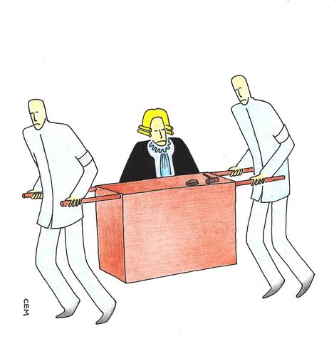 Cartoon: Judge (medium) by cemkoc tagged le,juridiction,la,cour,droit,legal,richter,attorney,lawyer,prosecutor,public,prosecution,tribunal,trial,defendant,last,supreme,justice,judicial,judge,judgement,court,cartoons,law,karikatürleri,hukuk,juge,abogado,defense