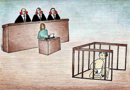 Cartoon: justice for children (medium) by cemkoc tagged abogado,juge,le,juridiction,la,cour,droit,legal,richter,attorney,lawyer,prosecutor,public,prosecution,tribunal,trial,defendant,last,court,supreme,justice,judicial,judge,judgement,cartoons,law,karikatürleri,hukuk,defense