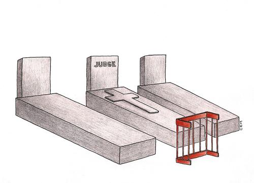 Cartoon: the tomb of the judge (medium) by cemkoc tagged judge,tomb,the