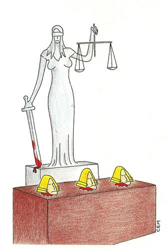 Cartoon: Themis and court (medium) by cemkoc tagged juge,le,juridiction,la,cour,droit,legal,richter,attorney,lawyer,prosecutor,public,prosecution,tribunal,trial,defendant,last,court,supreme,justice,judicial,judge,judgement,themis,cartoons,law,karikatürleri,hukuk,abogado,defense