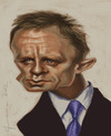 Cartoon: Daniel Craige (small) by StudioCandia tagged caricature,bond