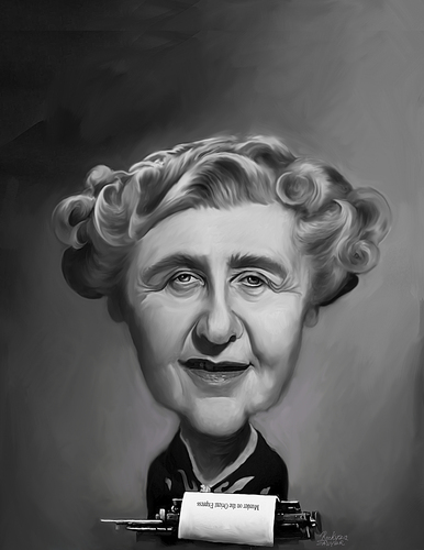 Agatha christie by rocksaw famous people cartoon toonpool - Www agatha christie com ...