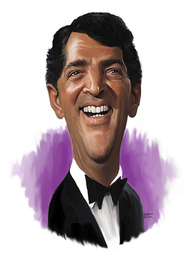 Dean Martin By Rocksaw Famous People Cartoon Toonpool
