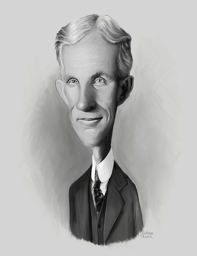Henry Ford By Rocksaw Business Cartoon Toonpool