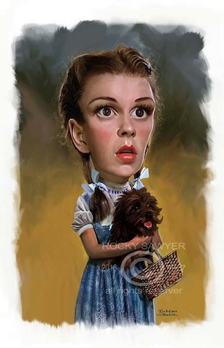 Cartoon: Judy Garland     Dorothy Gale (medium) by rocksaw tagged caricature,judy,garland