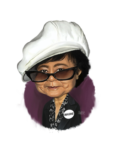 Cartoon: Yoko Ono (medium) by rocksaw tagged caricature,yoko,ono