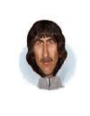 Cartoon: George Harrison (small) by rocksaw tagged george,harrison