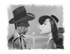 Cartoon: Humphrey Bogart and Lauren Bacal (small) by rocksaw tagged humphrey,bogart,and,lauren,bacall