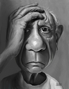Cartoon: Pablo Picasso (small) by rocksaw tagged caricature,pablo,picasso