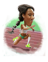 Cartoon: patricia mamona (small) by rocksaw tagged portuguese,athlete