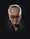 Cartoon: Stan Lee (small) by rocksaw tagged caricature,study