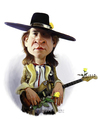 Cartoon: Stevie Ray Vaughan (small) by rocksaw tagged stevie,ray,vaughan