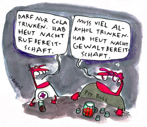 Cartoon: Deutschland bei Nacht (medium) by Holga tagged rotes,kreuz,gewalt,alkohol,