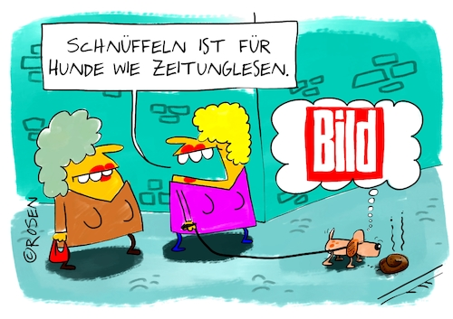Cartoon: Hundezeitung (medium) by Holga tagged bild,springer