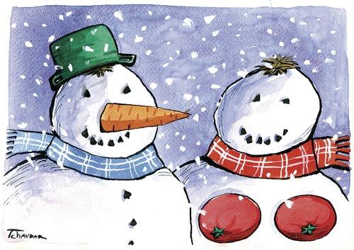 Cartoon Snowman Images. Cartoon: snowman familly