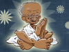 Cartoon: Mahatma Gandhi (small) by cosmicomix tagged mahatma gandhi guru india master peace