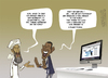 Cartoon: The new menace to the world (small) by cosmicomix tagged obama,osama,bin,laden,twitter,internet,censorship