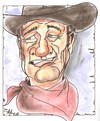 Cartoon: The Duke (small) by ade tagged wayne,western,cowboy