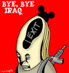 Cartoon: bye bye (small) by allan mcdonald tagged guerra