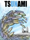 Cartoon: tsunami (small) by allan mcdonald tagged libia