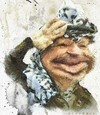 Cartoon: YASIR   ARAFAT (small) by allan mcdonald tagged palestina