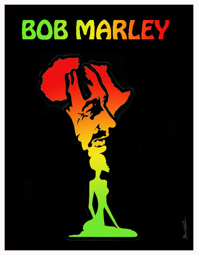 Bob Marley By Ismail Dogan Media Culture Cartoon Toonpool
