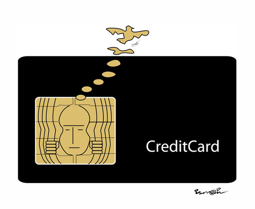 Cartoon: CREDIT CARD !.. (medium) by ismail dogan tagged credit,card