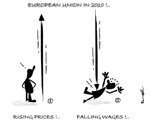 Cartoon: EU....2010 !... (medium) by ismail dogan tagged union,economic