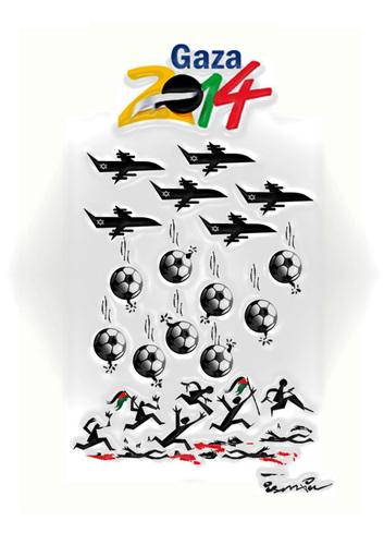 كاريكاتير غزة
