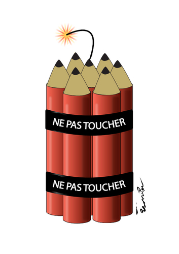 Cartoon: ne pas toucher (medium) by ismail dogan tagged je,suis,charlie