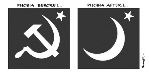 Cartoon: PHOBIA !... (medium) by ismail dogan tagged phobie