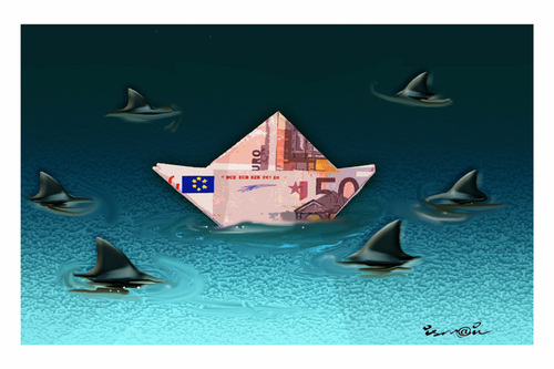Cartoon: SHARKS !.. (medium) by ismail dogan tagged sharks
