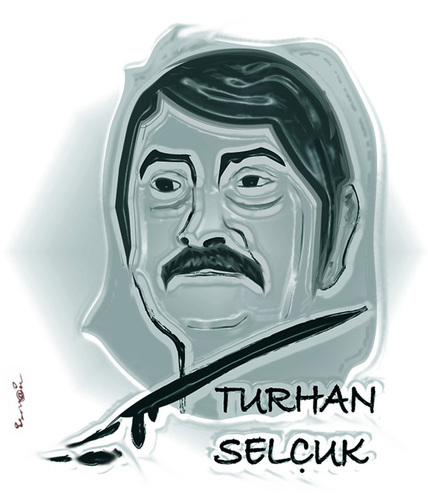 Cartoon: TURHAN SELCUK (medium) by ismail dogan tagged turhan,selcuk