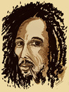 Cartoon: BOB MARLEY (small) by ismail dogan tagged bob marley