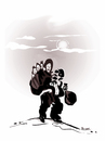 Cartoon: EXILED !.. (small) by ismail dogan tagged exiled