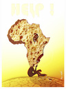 Cartoon: HELP AFRICA !.. (small) by ismail dogan tagged africa