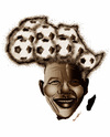 Cartoon: NELSON MANDELA !.. (small) by ismail dogan tagged mandela
