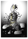 Cartoon: PRISONER !... (small) by ismail dogan tagged cables